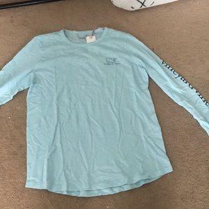 A light blue long sleeve Vineyard Vines shirt